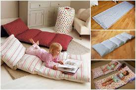 floor cushions diy. Unique Cushions Easy Roll Up Pillow Bed Wonderful DIY Floor Pillow Without Sewing And Cushions Diy