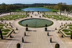 chalk lines mark the planning stages for this large formal french garden