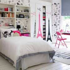 Beautiful Gorgeous White Bedroom With Paris Teen Girl Room Theme Decor Plus Teens For  Found Household