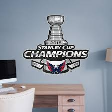 washington capitals 2018 stanley cup champions logo giant nhl removable wall decal fathead wall