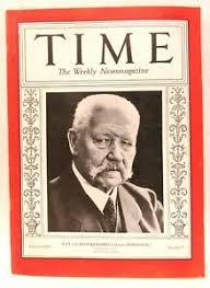 July 16 1934 TIME MAGAZINE cover of Germany's PAUL VON HINDENBURG | eBay