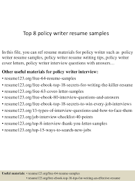 top 8 policy writer resume samples in this file you can ref resume materials for writing resume example