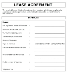 Commercial Sublease Agreement Template Simple Lease For Landowner ...