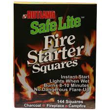 rutland safe lite fire starter squares 144 pack
