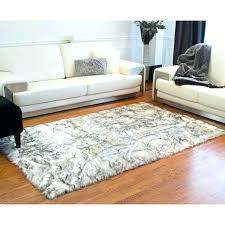 faux fur area rug grant grey sheepskin 5x7