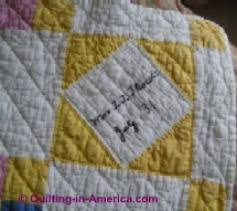 Signature Quilts & This elegant antique hand-quilted friendship quilt has signed squares with  dates -- 1931. It was obviously treasured by the family because it is in ... Adamdwight.com