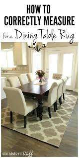 Dining Rug How To Correctly Measure For A Room Table Out In Rugby