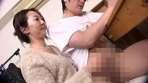 Jap mother hand job