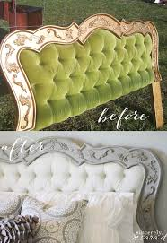 Cover Headboard With Fabric Best 25 Headboard Makeover Ideas On Pinterest Burlap Bedroom