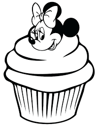 Minnie Mouse Birthday Cake Coloring Pages Mouse Birthday Coloring