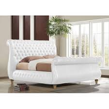 upholstered leather sleigh bed. 0% APR Financing Upholstered Leather Sleigh Bed Y
