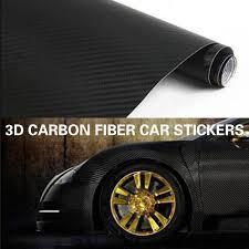Car Styling <b>30cmx127cm 3D Carbon</b> Fiber Vinyl Car Wrap Sheet ...