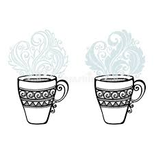 Download Decorative Cup Of Coffee With Steam Stock Image - Image of  isolated, fresh: