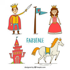 Elements Of A Fairy Tale Funny Fairy Tale Characters And Elements Vector Free Download