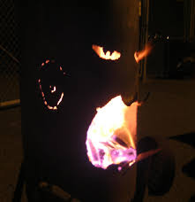 mr fire face the outdoor fireplace made from old propane tank 5 steps with pictures