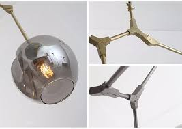 3 5 7 8 9 11 heads glass ball branching drop hanging light lindsey adelman modern glass chandelier