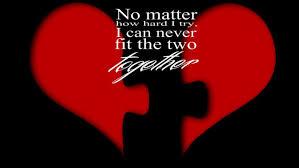 broken lonely heart broken together