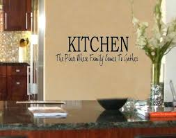 kitchen quotes wall art kitchen place where family gather vinyl wall art decal for interior kitchen quotes wall art