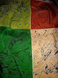 "RARE Wesley Simpson Silk Scarf-Art Scarf-Achelous and Hercules-32""Sq-Corn  Dmg | eBay"