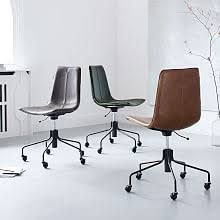 west elm office chair. Slope Leather Swivel Office Chair West Elm H