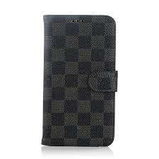 bulk order rebate brand new luxury plaid pattern pu wallet stand leather case for samsung galaxy note 4