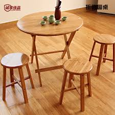 get ations bamboo folding table square table round table small apartment wood dining table simple portable child outdoor