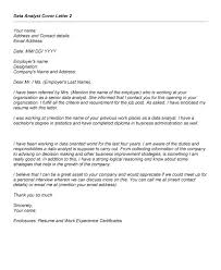 Data Analytics Cover Letter Data Analysis Cover Letters Aikmans