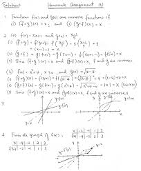 solutions for homework assgnment 14 sept 24 inverse functions