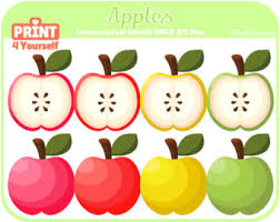 apple fruit clip art. instant download apple clipart // fruit food clip art