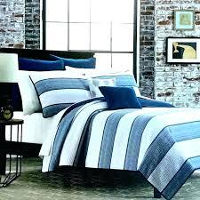 navy and white striped bedding blue quilt king stripe duvet cover uk