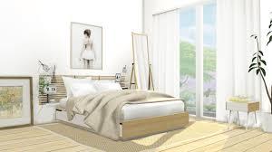 Sims Bedroom Mxims Ikea Mandal Bedroom Set 1 Bedframe 332 Polygons