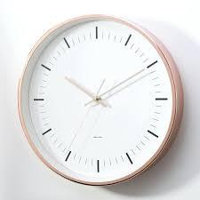 copper wall clock large clocks australia round uk
