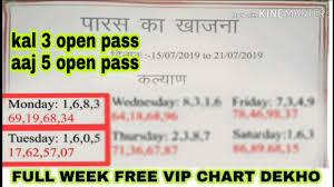 Paras Ka Khajana Kalyan Free Vip Chart Daily Passing Record