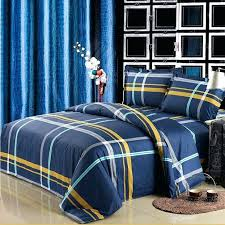 blue and yellow striped duvet cover navy blue and yellow boys tartan plaid print traditional