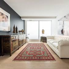4 4 x 6 5 persian kilim rug made of silk and