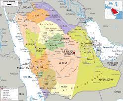 خريطة السعودية بالانجليزية خريطة صماء وخريطة مفصلة لجميع مناطق السعودية -  اخر حاجة