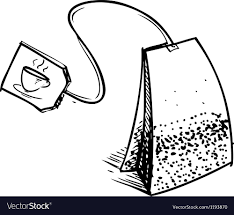 tea bag drawing. Beautiful Drawing Tea Bag With Label Vector Image Intended Bag Drawing A