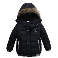 dirance kids hooded outwear jacket boys girls thick padded winter plush collar hoo coat b075vmlb6w
