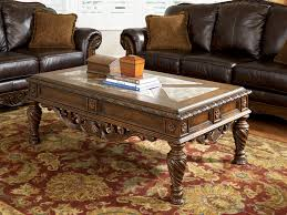 Rana Furniture Living Room North Shore Dark Brown T963 Cocktail Table And 2 End Tables