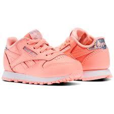 reebok 5411 pink. reebok - classic leather pastel infant \u0026 toddler sour melon / white bs8983 5411 pink