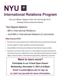 Nyu Resume NYU International Relations Program Virtual Open House 242424 17