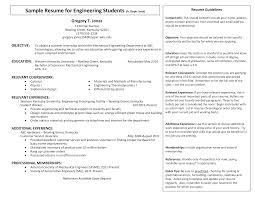 Free Sample Student Resume Templates At Allbusinesstemplates Com
