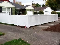 Vinyl fence Lattice Semi Private White Vinyl Mr Fence Go Maintenancefree With Vinyl Fences