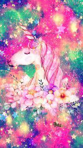 Floral Unicorn Galaxy Wallpaper ...