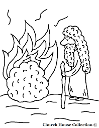 Simple Thanksgiving Moses Coloring Pages 17 And The Burning Bush