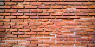 old red brick wall blank background