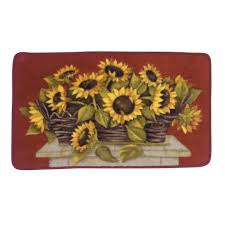 Sunflower Kitchen Essential Home Sunflower Basket Kitchen Rug Home Home Decor
