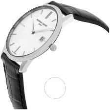 frederique constant men s watch slim line black leather strap frederique constant men s fc220ns4s6 slim line slim line mens black leather strap watch watch