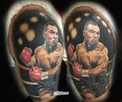 фото татуировки майк тайсон в стиле реализм татуировки на плече
