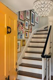 mustard yellow front door